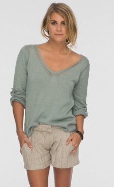 Maldives Skinny Sweater - Tender Green