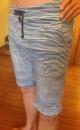 Slimjims Yoga Shorts - Batik Blue Stripes - 2