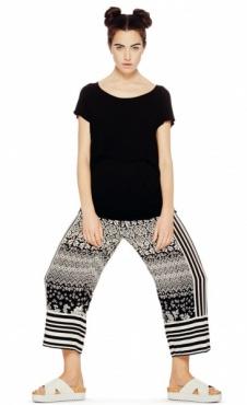 Wide Leg Cropped Pants