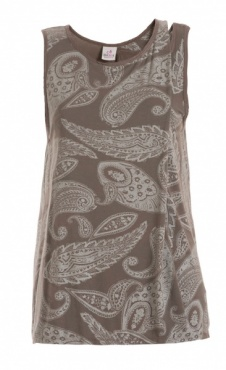 Drapey Front Tank - Taupe