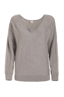 Cotton & Silk V-Neck Sweater