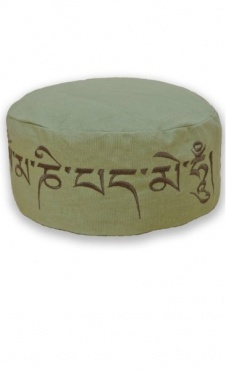 Meditation Cushion Mantra - Olive
