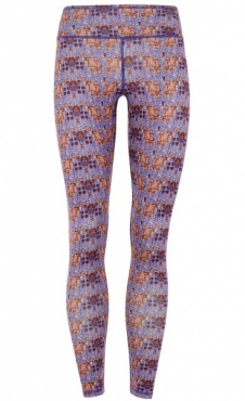Velvet Flower Printed Yoga Legging