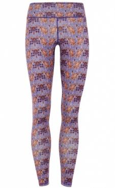 Velvet Flower Printed Yoga Legging