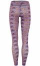 Velvet Flower Printed Yoga Legging - 1