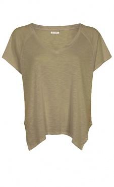 Loose V-neck shirt