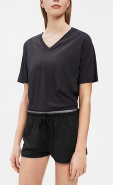 Filippa K Loose V-neck Tee - Slate