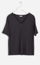 Filippa K Loose V-neck Tee - Slate - 2