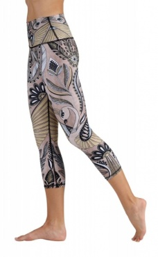 Desert Goddess Cropped Yoga Leggings