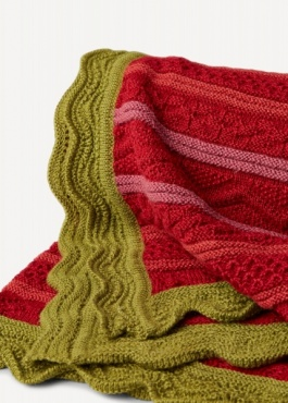Oleana Alpaca Throw - Red