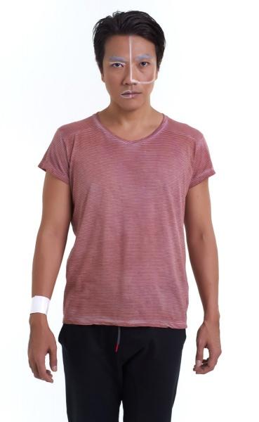 Air Mens Yoga Shirt - Pigment wash