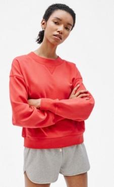 Filippa K Cropped Sweatshirt Scarlet