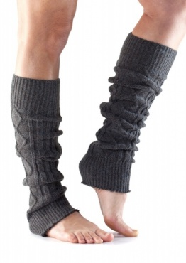 Knitted Leg Warmer - Charcoal
