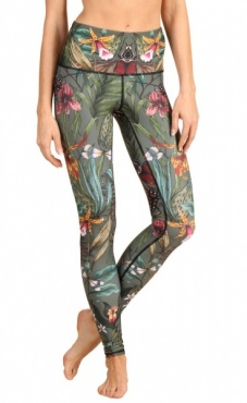 Green Thumb Printed Yoga Leggings