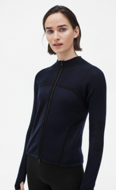 Filippa K Warm-up Zip Cardi - Night Sky