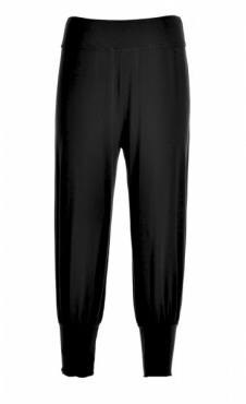 Cropped Harem Pants - Black