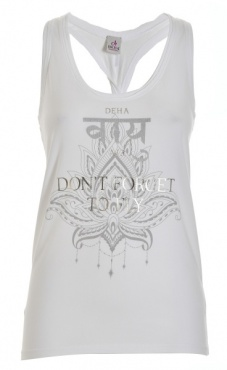 Don't Forget To Fly Tank - Grey Marl