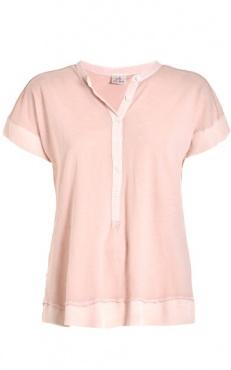 Button Tee - Blush
