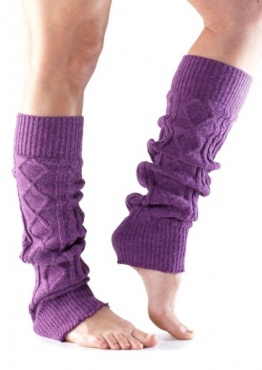 Knitted Leg Warmer - Plum