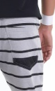 Asana Yoga Shorts - Grey Marl Stripes - 2