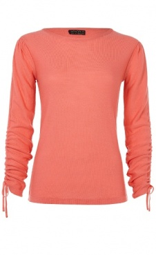 Barre Sweater 100% merino - Coral