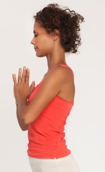 35mm Yoga top - Coral-2