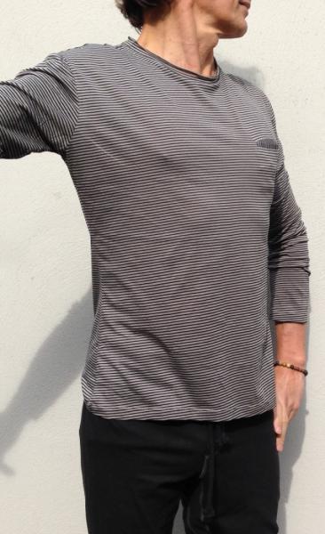 Waka Longsleeve Shirt - Small Stripes Grey - 1