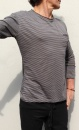 Waka Longsleeve Shirt - Small Stripes Grey - 1