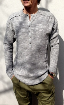 Tonton Shirt - Grey double marl