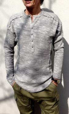 Tonton Shirt - Grey double marl