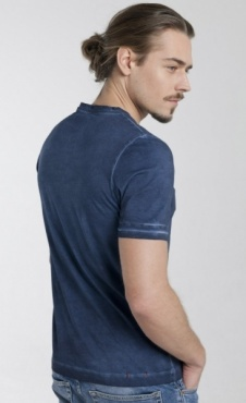 Cool Pigment Dyed Mens T - Blue