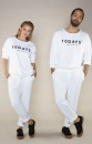10Days Oversized Unisex Jogger White - 1