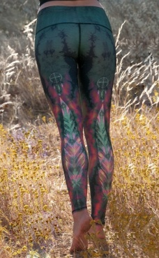 tEEki Eagle Feather Yoga Leggings