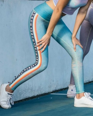 tEEKi Palm Springs Stripe Yoga Leggings