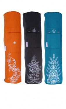 Yogamattas borduur - oranje
