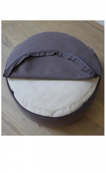 Meditation Pillow Mandala - Taupe - 1