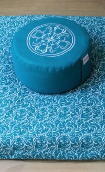 Meditation Pillow Mandala - Azure - 2