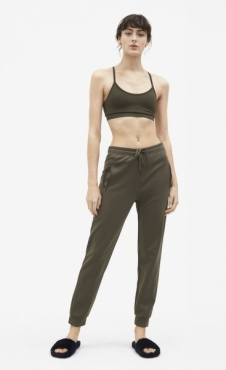 Filippa K Shiny Track Pants - Olive