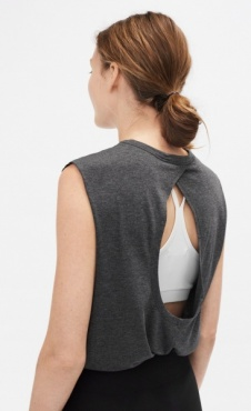 Filippa K Layer Tank - Antraciet