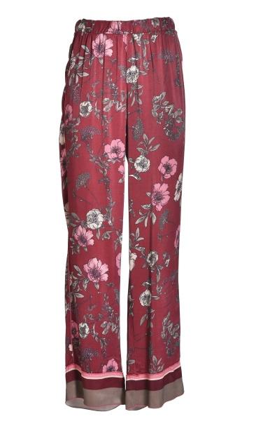 Floral Lounge Pants - Burgundy