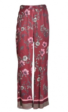 Floral Lounge Pants - Burgundy