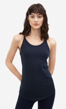 Filippa K Cotton Strap Tank - Nightsky