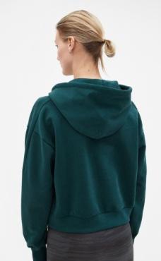 Filippa K Brushed Hoodie - Emerald