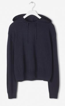 Filippa K 100% Cashmere Hood Sweater - Nightsky