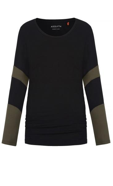 Long Sleeve Bamboo T - Black / Khaki