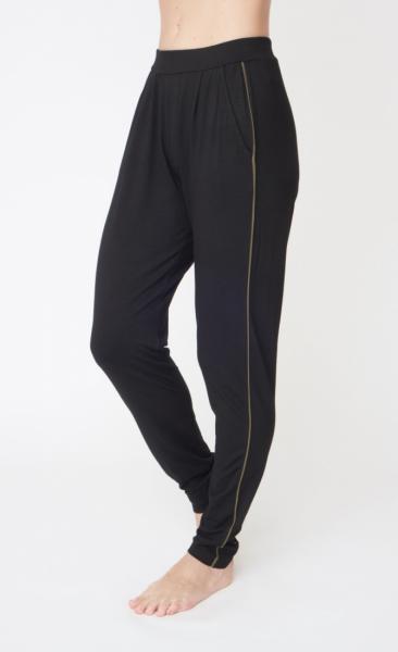 Divine Pants - Black +Khaki piping - 2