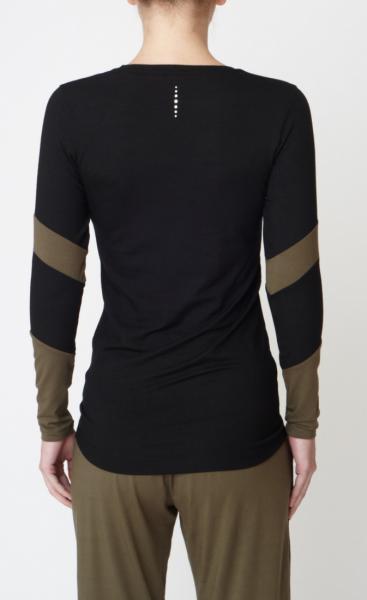 Long Sleeve Bamboo T - Black - 1