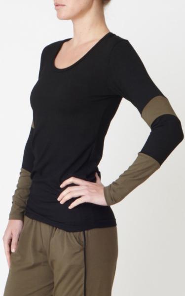 Long Sleeve Bamboo T - Black - 2