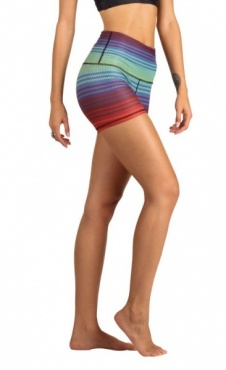 Rainbow Stripe Yoga Shorts