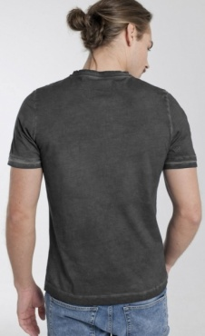 Cool Pigment Dyed Mens T - Black